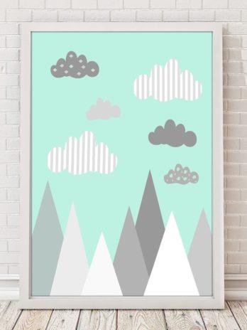 Plakat Miętowe góry