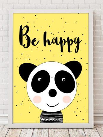 Plakat Be happy!