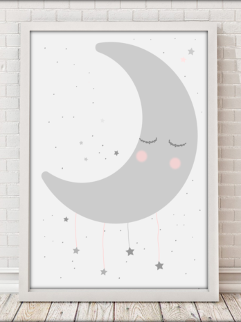 Plakat Księżyc