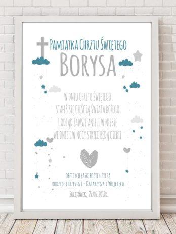 Plakat dla dzieci Pamiątka Chrztu Świętego